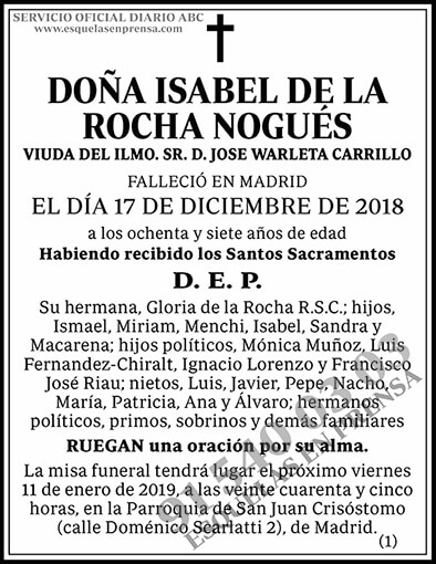 Isabel de la Rocha Nogués